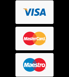 We accept all major payment cards
